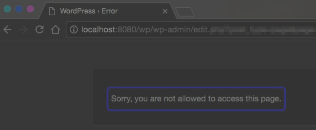 How to fix WordPress – Sorry, you are not allowed to access this page
